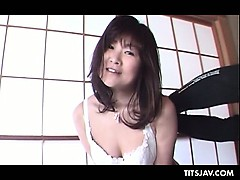 Fuck-a-thon starved Chinese cockslut flaunting her gigantic boobies and puffies