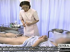 Subtitled medical CFNM  jizz flow with Japan nurse