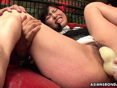 Mika Shindo enjoys plaything  and a very mighty ejaculation
